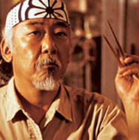 Mr. Miyagi in The Karate Kid, Fishbowl Blog