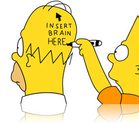 Homer Simpson and Bart Simpson, Fishbowl Inventory Blog