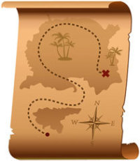 Treasure map, Fishbowl Blog