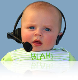 Baby in a headset, Fishbowl Inventory Blog