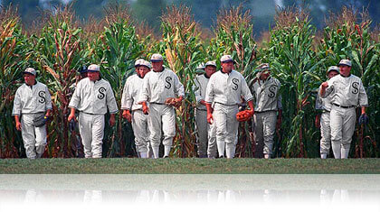 Field of Dreams White Sox players in a cornfield, Fishbowl Inventory Blog