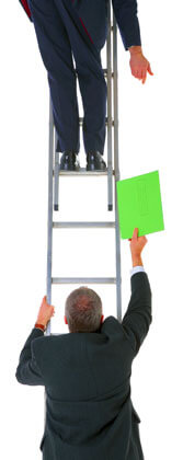 Outsourcing document on a ladder, Fishbowl Inventory Blog