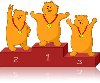 Three bears on a pedestal, Fishbowl Inventory Blog