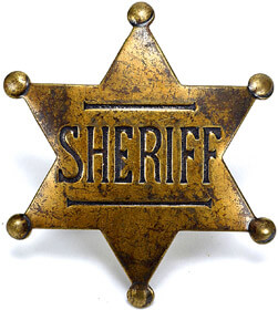 Old West sheriff badge, Fishbowl Inventory Blog