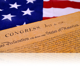 Declaration of Independence on an American flag, Fishbowl Inventory Blog