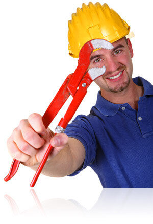 Plumber holding a monkey wrench, Fishbowl Inventory Blog
