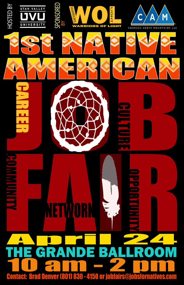 Poster for the first Native American Job Fair in Utah, Fishbowl Inventory Blog
