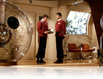 Kirk and Spock in Star Trek II: The Wrath of Khan