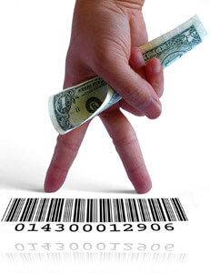 Dollar, fingers and barcode, Fishbowl Inventory Blog