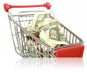 Shopping cart with money inside, Fishbowl Inventory Blog