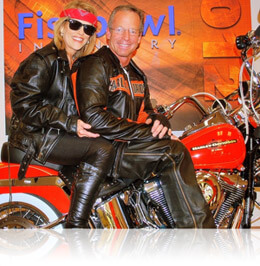 David Williams on a Harley Davidson motorcycle, Fishbowl Inventory Blog