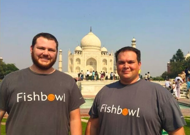 Fishbowl employees Alex Rose and Jeff Bullough visit the Taj Mahal, Fishbowl Blog