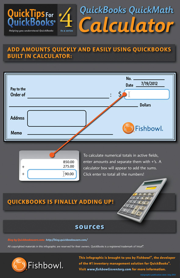 QuickBooks QuickMath Calculator