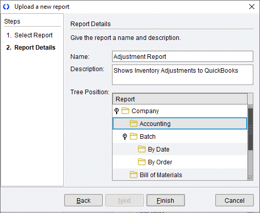 Upload a new report.png