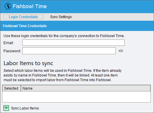 Fishbowl Time Login Credentials.png