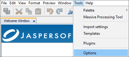 1iReport Tools.Options.png
