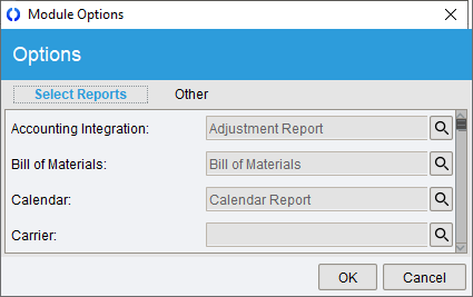 Reports module options select reports subtab.png